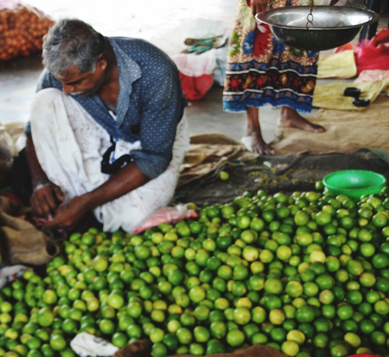 Market Sellers Limes Real People Market Freshness Travel Photography Sri Lankan Markets Large Group Of Objects Green Green Fruit Abundance For Sale Choice In A Row