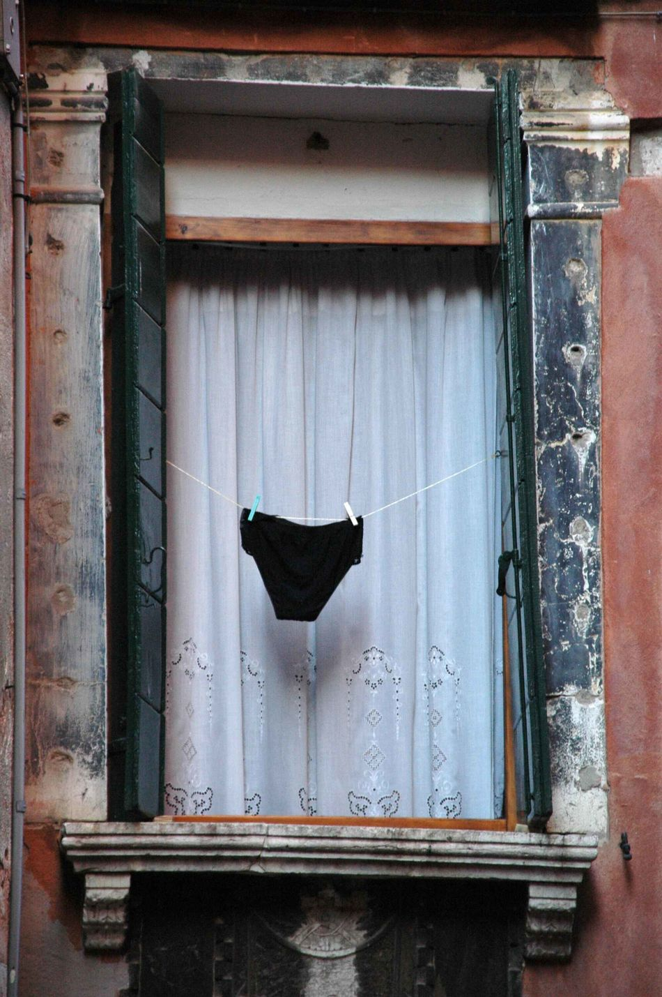 Curtain Day Drying Hanging Negligee No People Window