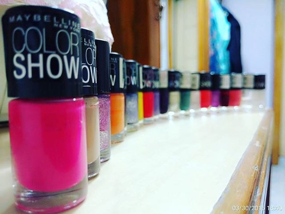 Any comments? Thats a part of my treasure Maybeline  Nailpolish Collection Colorshow