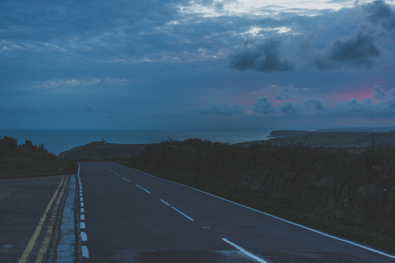 Beachy Head - East Sussex Beachy Head Dusk East Sussex Empty Road Road Roadtrip Sea Sea And Sky Sunset The Drive Outdoors