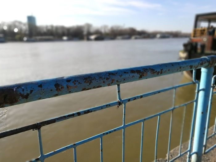 Water Outdoors Day Nature Sky River Sava River Belgrade Rusty Metal Rust No People