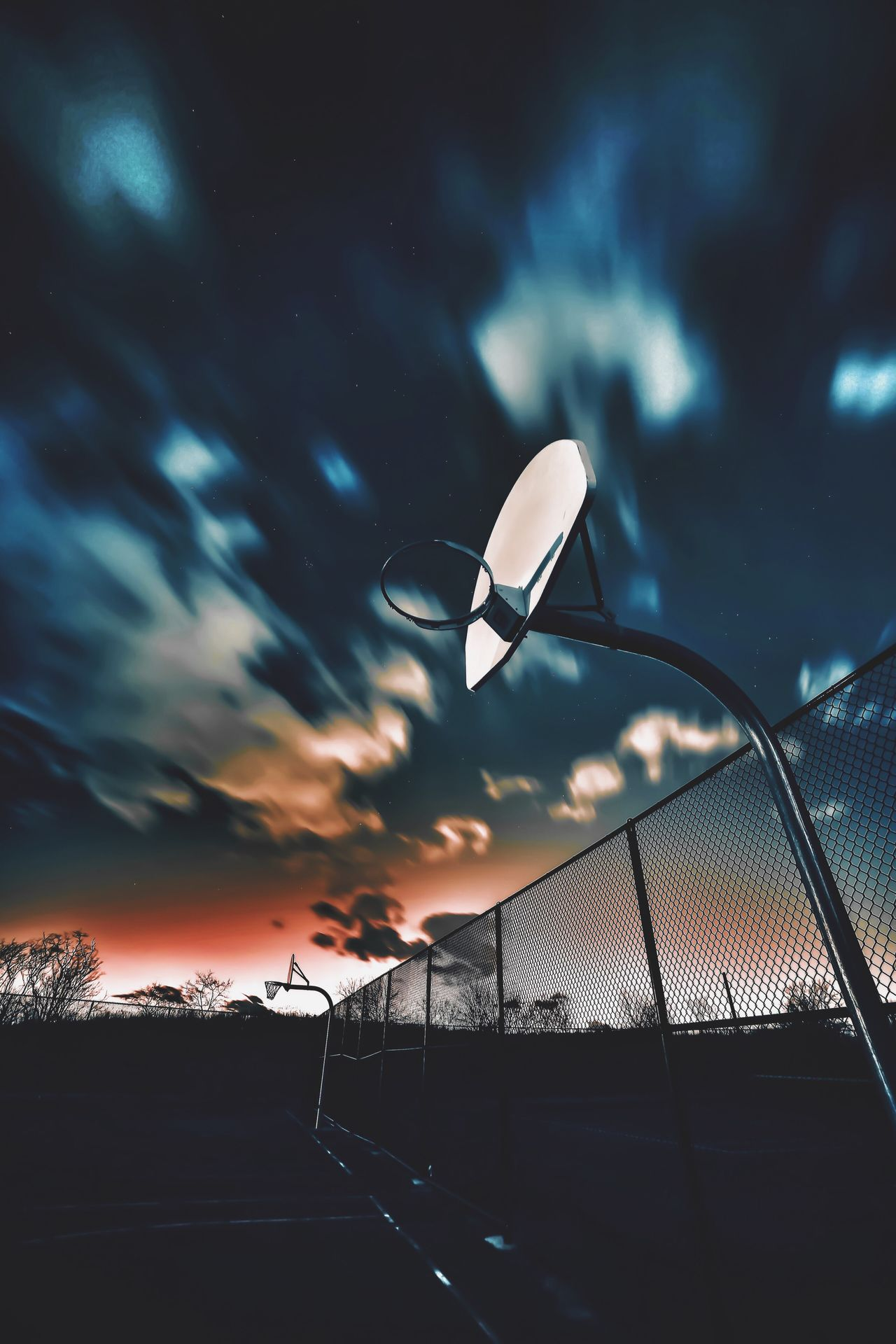 Beautiful stock photos of universe, Basketball - Sport, Basketball Hoop, Beauty In Nature, Blue