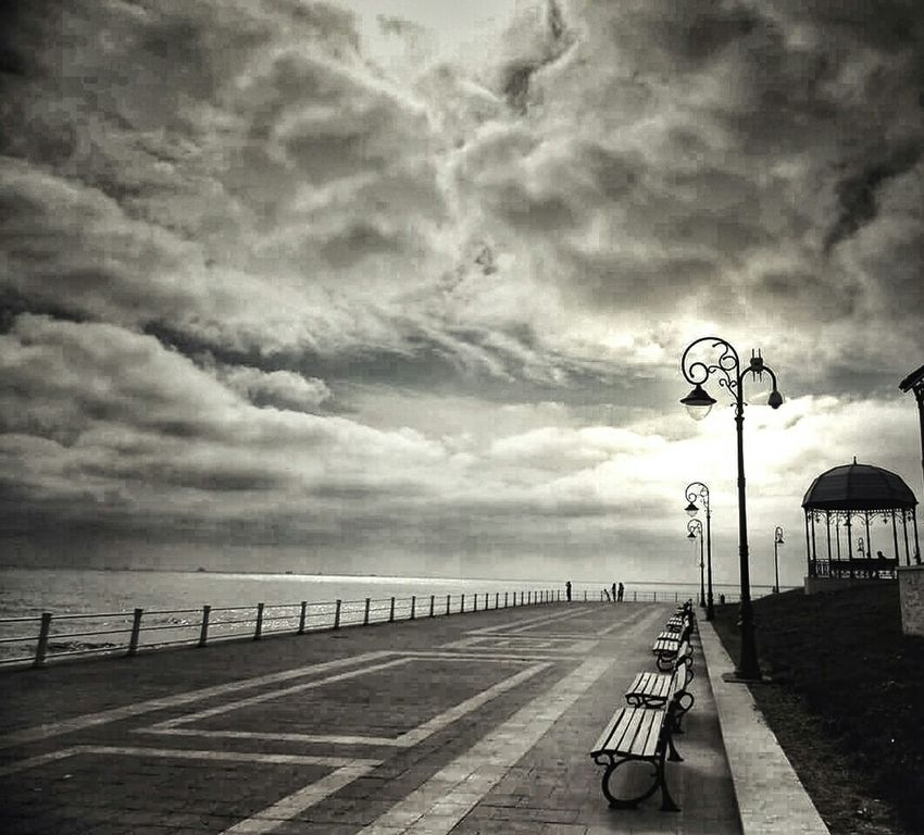 Enjoy The Silence Cazino Constanta Romania Relaxing September Days Black And White Feeling Thankful