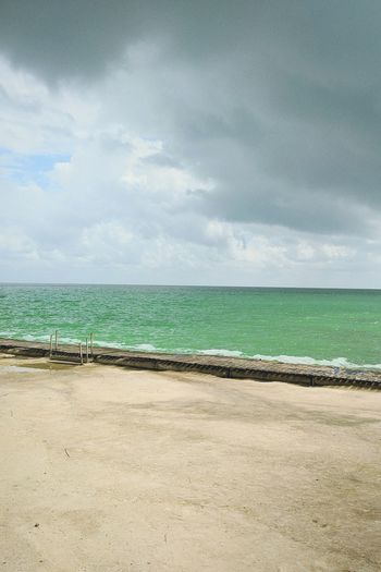 calderas Beach Sea Cloud - Sky Sky Sand Blue Horizon Over Water