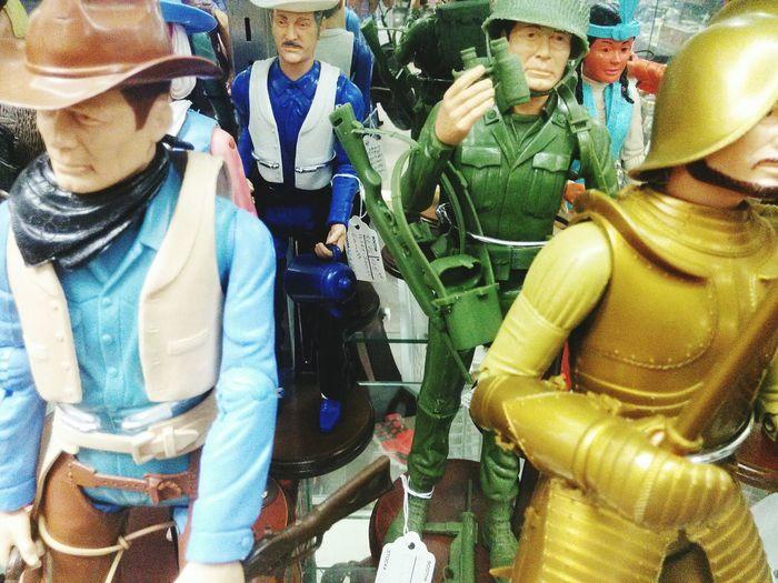 Antique Antique Toys Heroes Americans American Muscle American Heroes Plastic Toys Plastic Toy Plastic Toy Figure Figure Soldier Cowboy Men