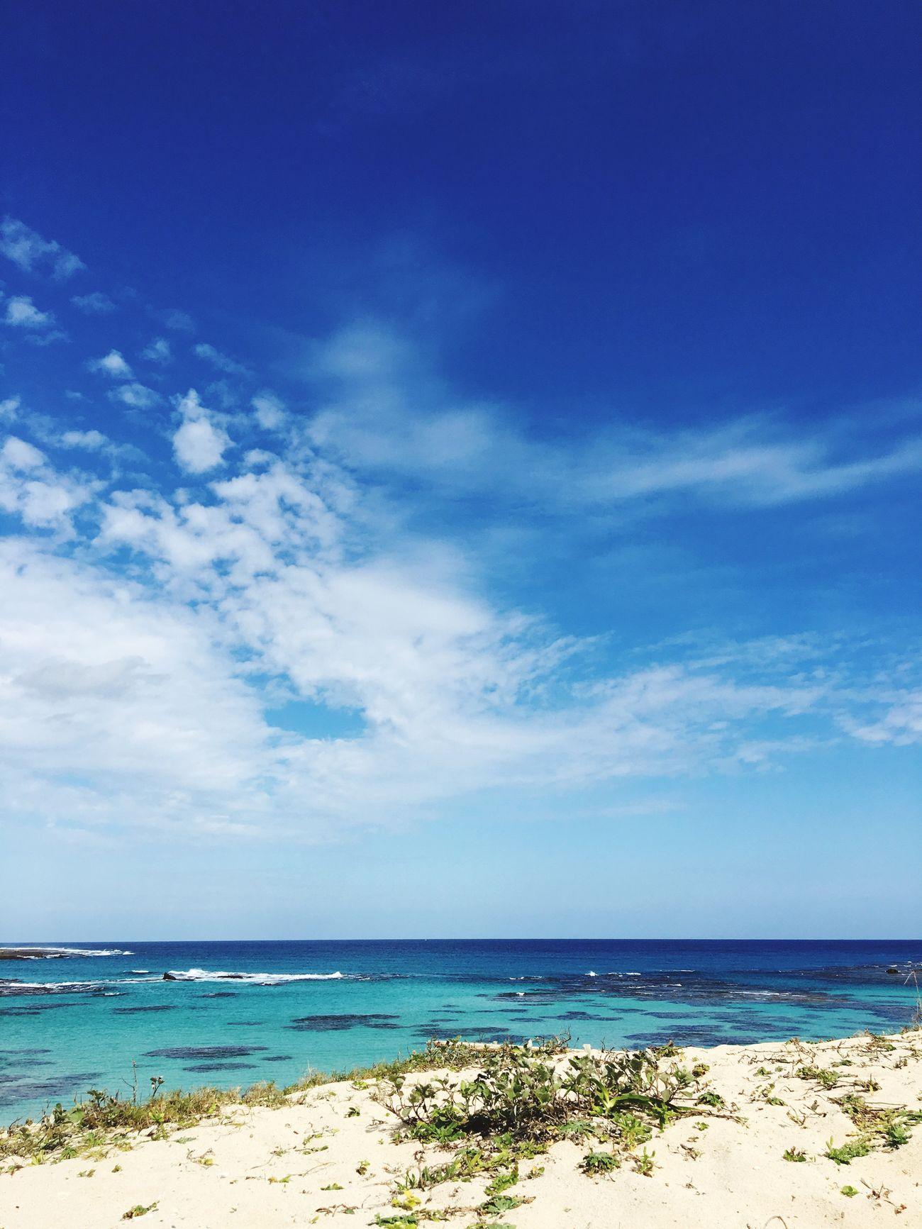 Beauty In Nature Beach Sea Sand Sky Blue Nature Horizon Over Water