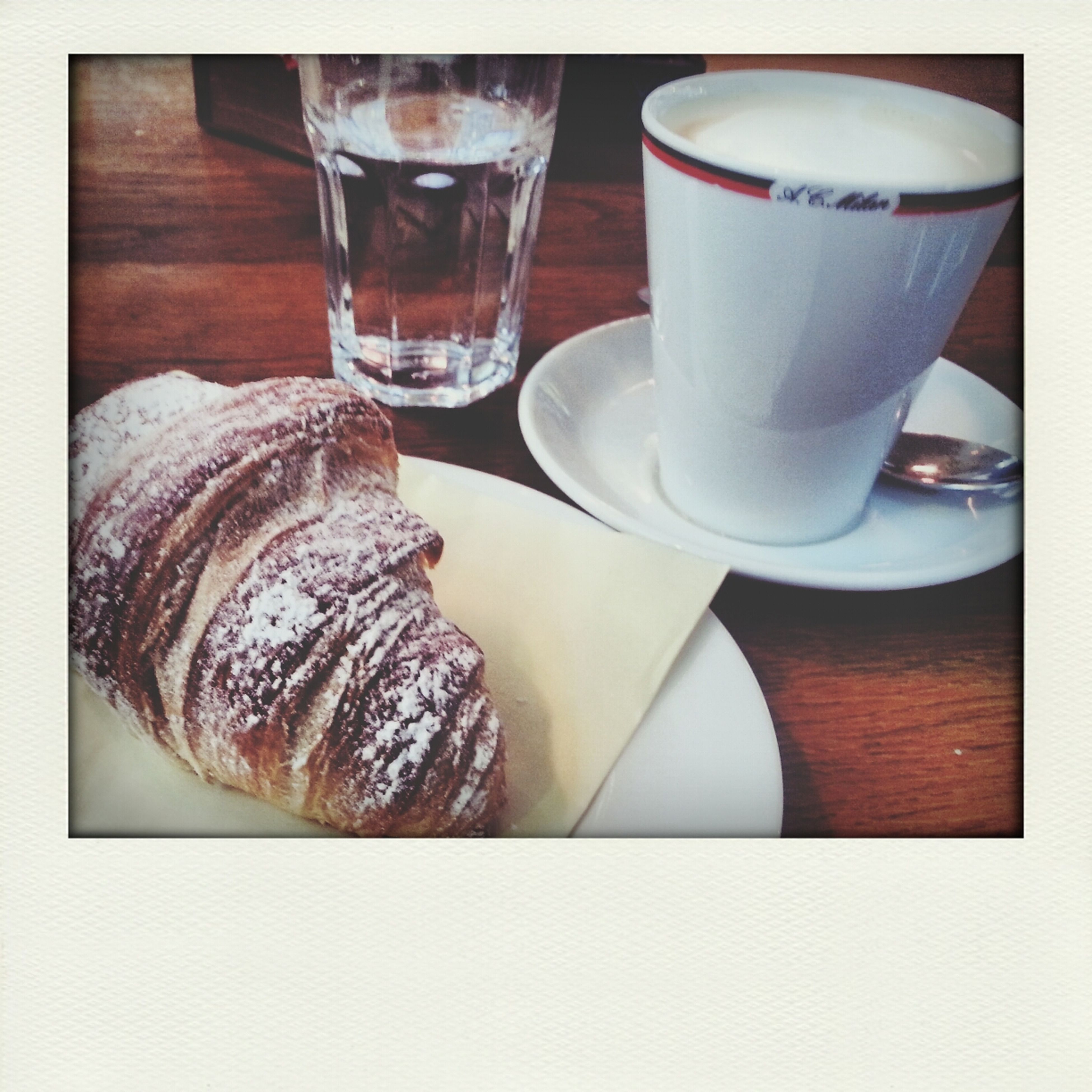 First Meal of the day :) Breakfast Croissant Coffee