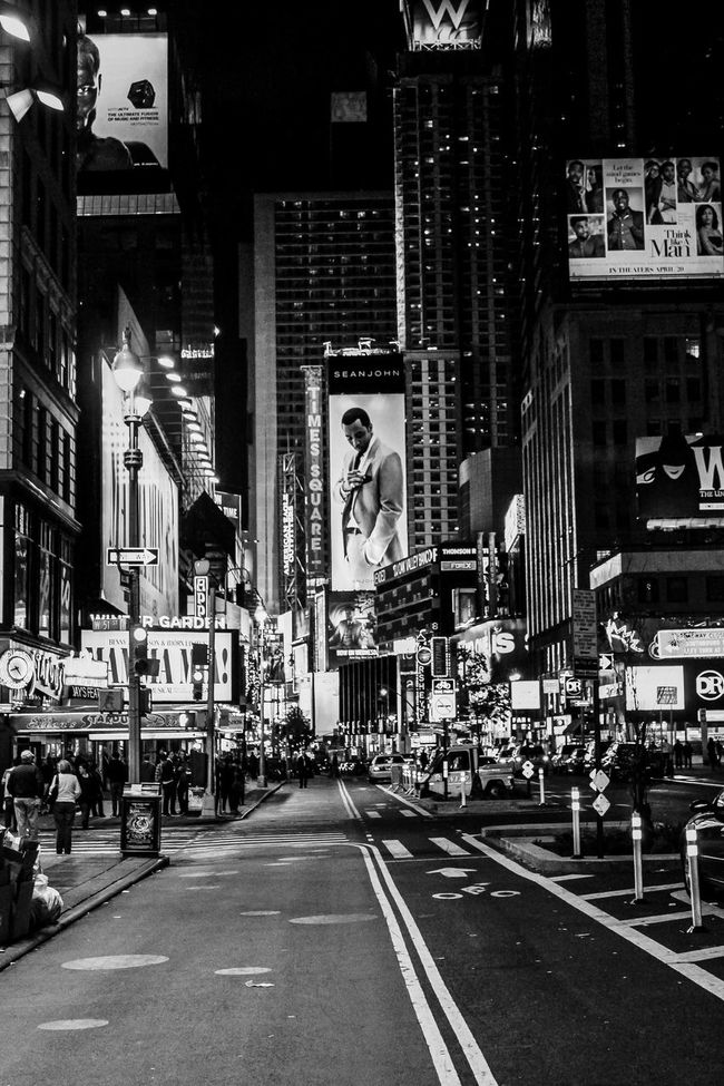 A view of Broadway. Black And White Blackandwhite Broadway City City Life Cityscape Cityscapes Manhattan New York New York At Night New York City New York City Life New York Street Photography New York ❤ New York, New York Night Lights Night Photography NYC NYC Photography Street Photography Streetphotography Streets Travel Travel Photo Travel Photography