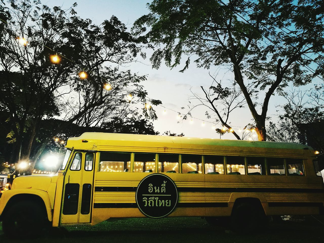 Transportation Mode Of Transport Yellow Land Vehicle No People Sky Tree Outdoors Day Thai Style Thaiculture Night Close-up Outdoor Garden Yellow Car