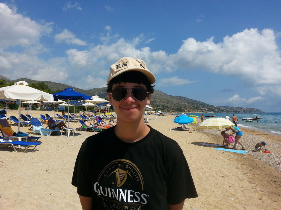 Giorgos enjoying life in summer Relaxing