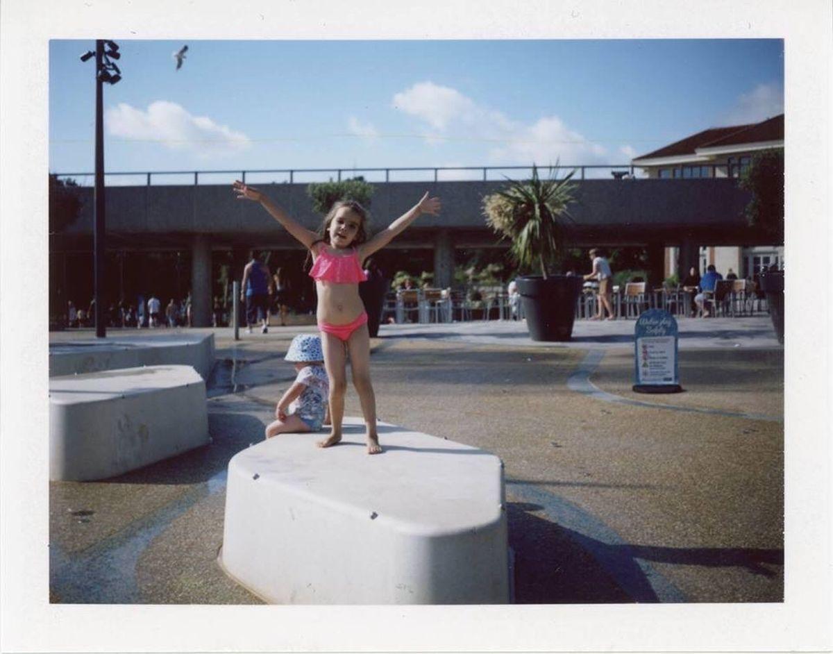 Childhood Outdoors Analogue Photography Fujifilm Fp-100c Bournemouth Happiness Polaroid Land Camera Automatic 350 Polaroid Land Camera 350 Polaroid