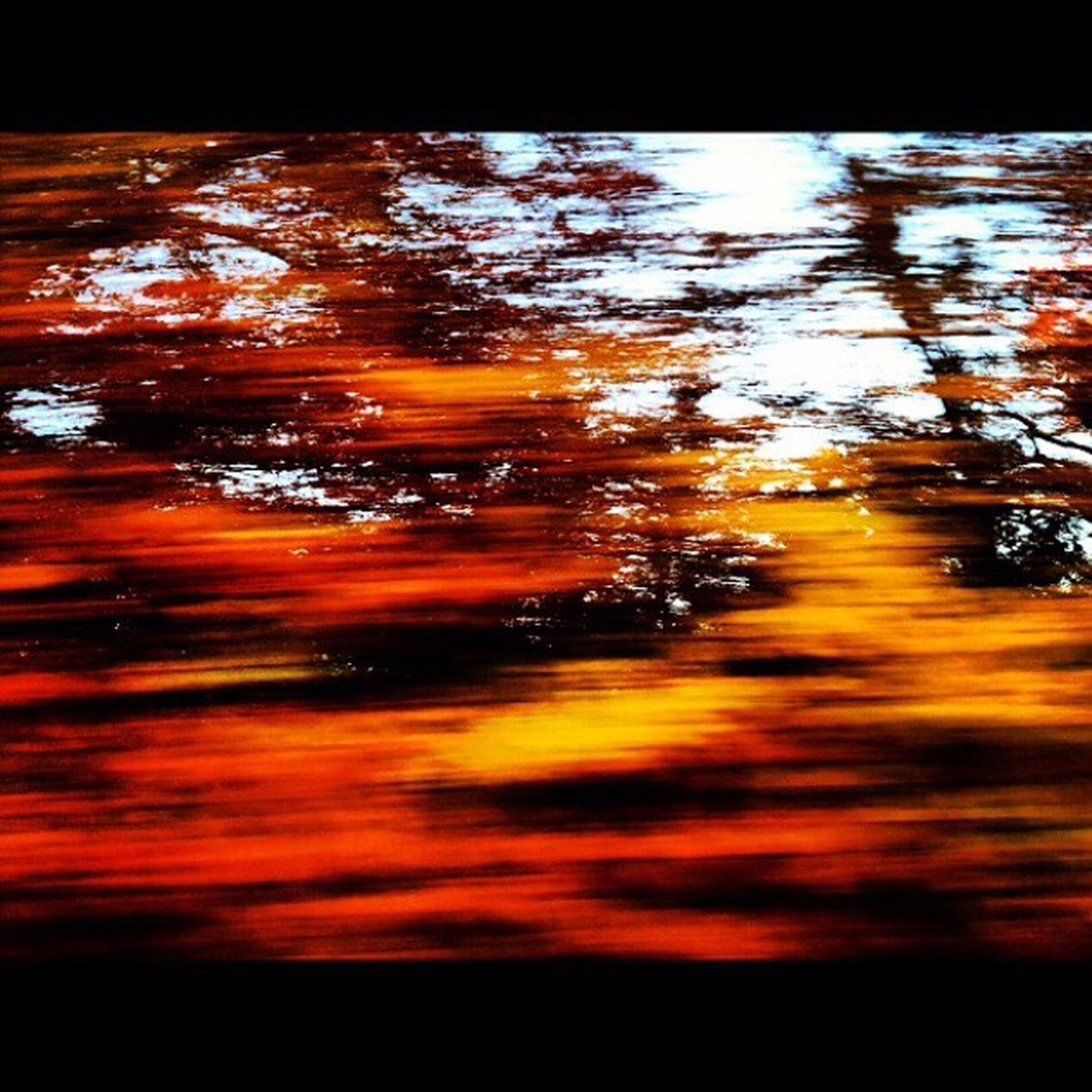 sunset, orange color, tree, nature, reflection, beauty in nature, water, silhouette, yellow, scenics, tranquility, auto post production filter, no people, tranquil scene, outdoors, sky, transfer print, sunlight, transparent, dark