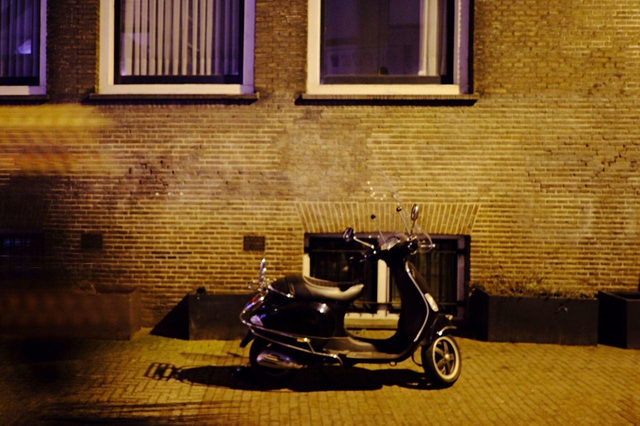 Built Structure Window Architecture Transportation Building Exterior No People Outdoors City Night Night Lights Scooter The City Light Light And Shadow City At Night Amsterdam Cityscape Urban Lifestyle Fujifilm X-pro2