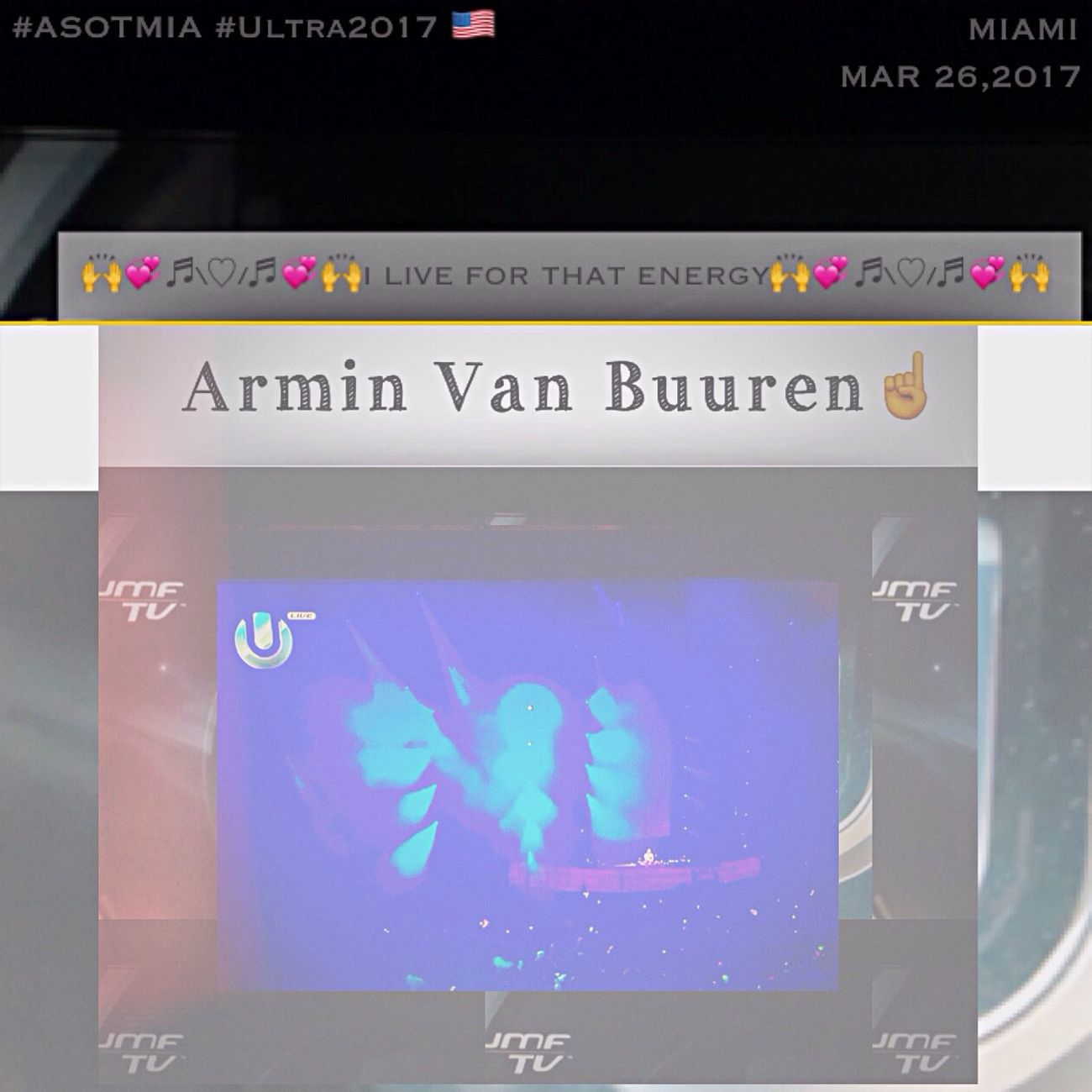 I Loved Your Energy With ASOTMIA 💖 A State Of Trance Ultra Music Festival Miami 🙌 💞 ♬\❤️ 🇺🇸 ❤️/♬ 💞 🙌 Thank You So Much My Idol Armin Van Buuren 🙏🏻 ☝🏻️ 🙏🏻 Ultra 2017 💙 ❤️