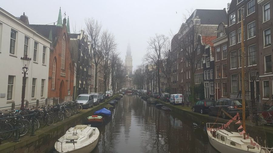 foggy morning Foggy Morning Foggy Amsterdam Amsterdam Canal Amsterdamcity Mokummagazine Netherlands Canal Canalcruise EyeEm Nature Lover EyeEm Best Shots EyeEmNewHere Walking Architecture Wet Building Exterior Day Built Structure Outdoors City No People Water