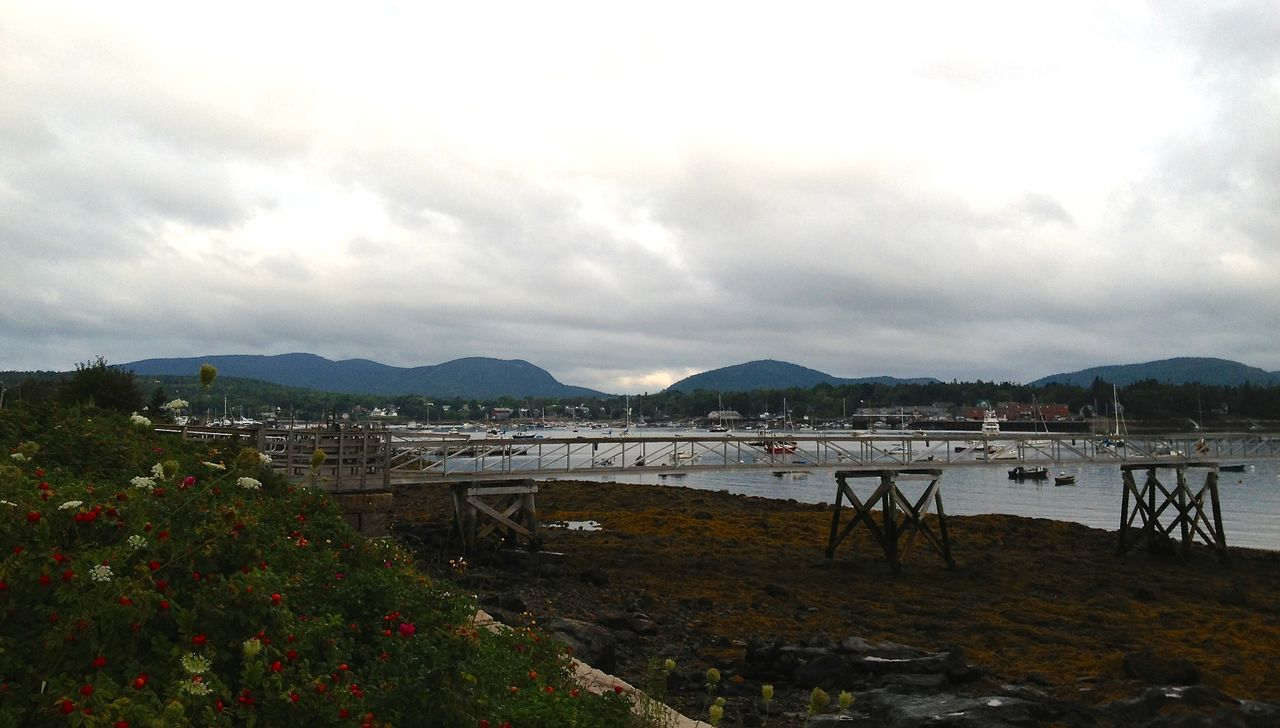 Cloudy Coastline Dock Harbor Marina Overcast Scenics Water Maine Mainephotography