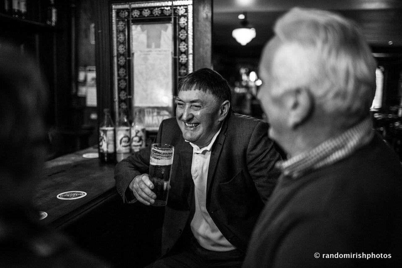 Having a pint in O'Neill's, Ballinrobe, Co Mayo. Ballinrobe Mayo Ireland Mono Chrome Eye4black&white