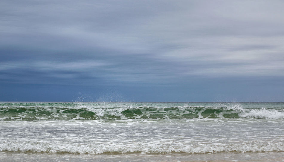 Beach Beauty In Nature Cloud - Sky Day Horizon Over Water Nature No People Ocean Outdoors Power In Nature Scenics Sea Seascape Seaside Seaside_collection Sky Splashing Splashing Waves Splashy Wave Water Wave Waves
