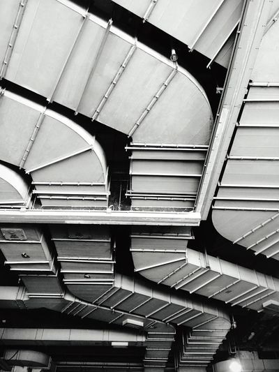 Walking Around IPhoneography Light And Shadow Abstract Abstract Pattern Another Point Of View Monochrome Street Photographer-2016 Eyem Awards Rhythm Mechanical Services Ductwork Ducting Air Duct