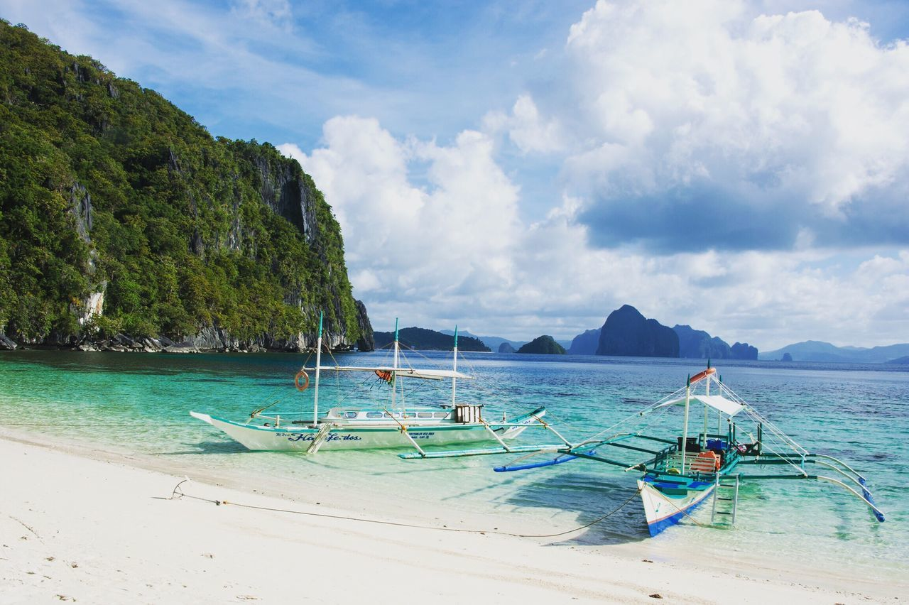Ocean is where I belong ... Sea Beach Water Sky Cloud - Sky Beauty In Nature Scenics Nautical Vessel Tranquility Outdoors Outrigger No People Longtail Boat Traveling South East Asia Nature El Nido, Palawan EyeEm Traveling EyeEmPhilppines Travel Philippines Ocean View Miles Away