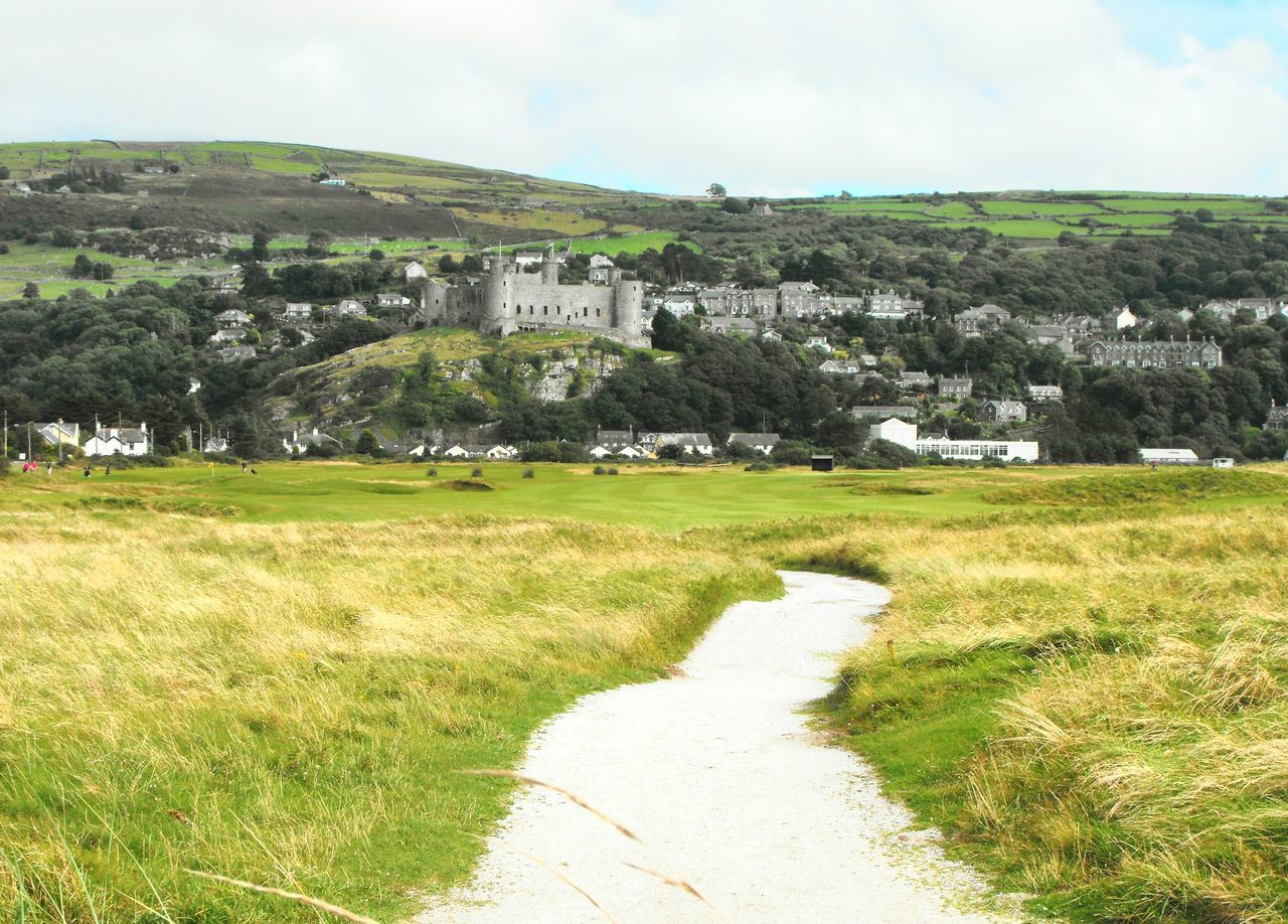 A white Road to the Castle ... Harlech Wales Inviting Road Path Pathway Medieval Landscape North Wales Town Beautiful Architecture Fortress Hills