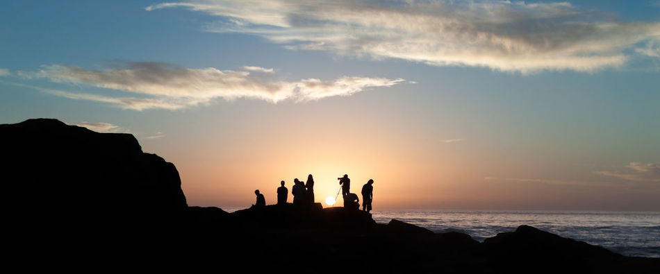 Surfers in Silhouette Anka Point Atlantic Ocean Canon Canonphotography Leisure Activity Lifestyles Morocco Nature Orange Color Panorama People In Silhouette Photographer Rock - Object Rock Formation Sea Silhouette Sundown Sundowners Sunset Surfing Life Taghazout Travel Destinations Travelling Photography Vacations