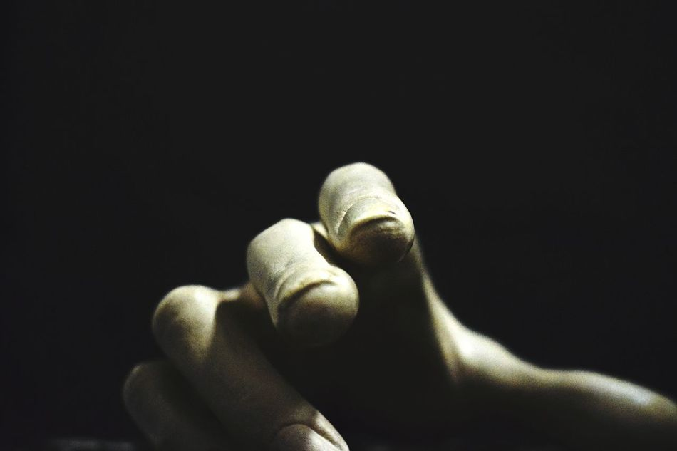 Human Body Part Black Background Human Hand Fingers Hand