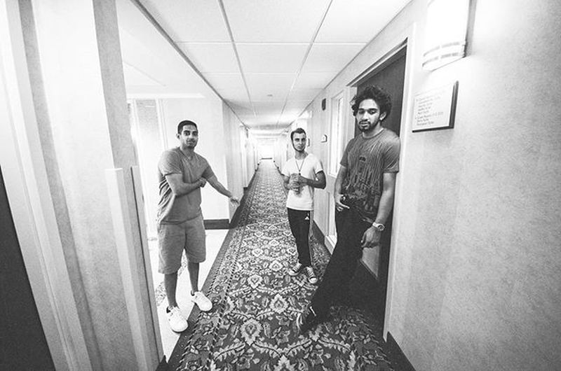 Using a wide angled lens I captured the four of us cousins deliberating on where to go out in the very adventurous and wonderful Canada. It was the second part of our cousins wedding, @nawabsaab112 with his wife @noreen_syed. Canada Wedding Weddingseason Wide Wideangle Cousins  Family Moretocome Summer Hotel Waiting Elevator Lfl Follow Weddingphotography Allinclusive Deals Gotoourwebsite Ztprod