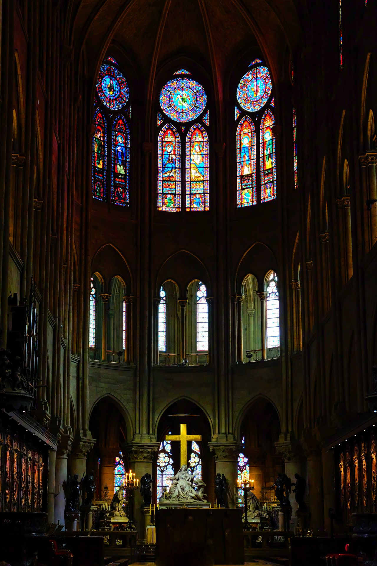 Cathedral Cathedrale Notre Dame Notre Dame Cathedral Notre Dame Cathedral Paris Notre Dame De Paris Notre-Dame Place Of Worship Religion Stained Glass Stained Glass Stained Glass Art Stained Glass Window