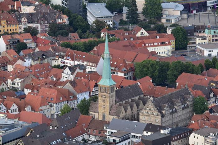 Hameln Hameln Von Oben Balloon Ride City Cityscape Niedersachsen Lower Saxony Germany