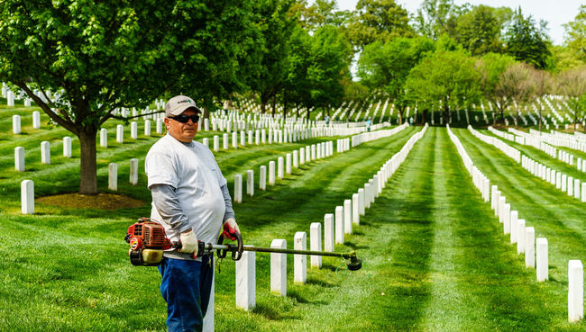 Arlington National Cemetery Casual Clothing Day Full Length Grass Graveyard Graveyard Beauty Green Color Growth Lawn Lawnmower Leisure Activity Lifestyles Military Mower Nature Outdoors Paris Plant Soldiers Spring Tree Up Close Street Photography Washington, D. C. Worker