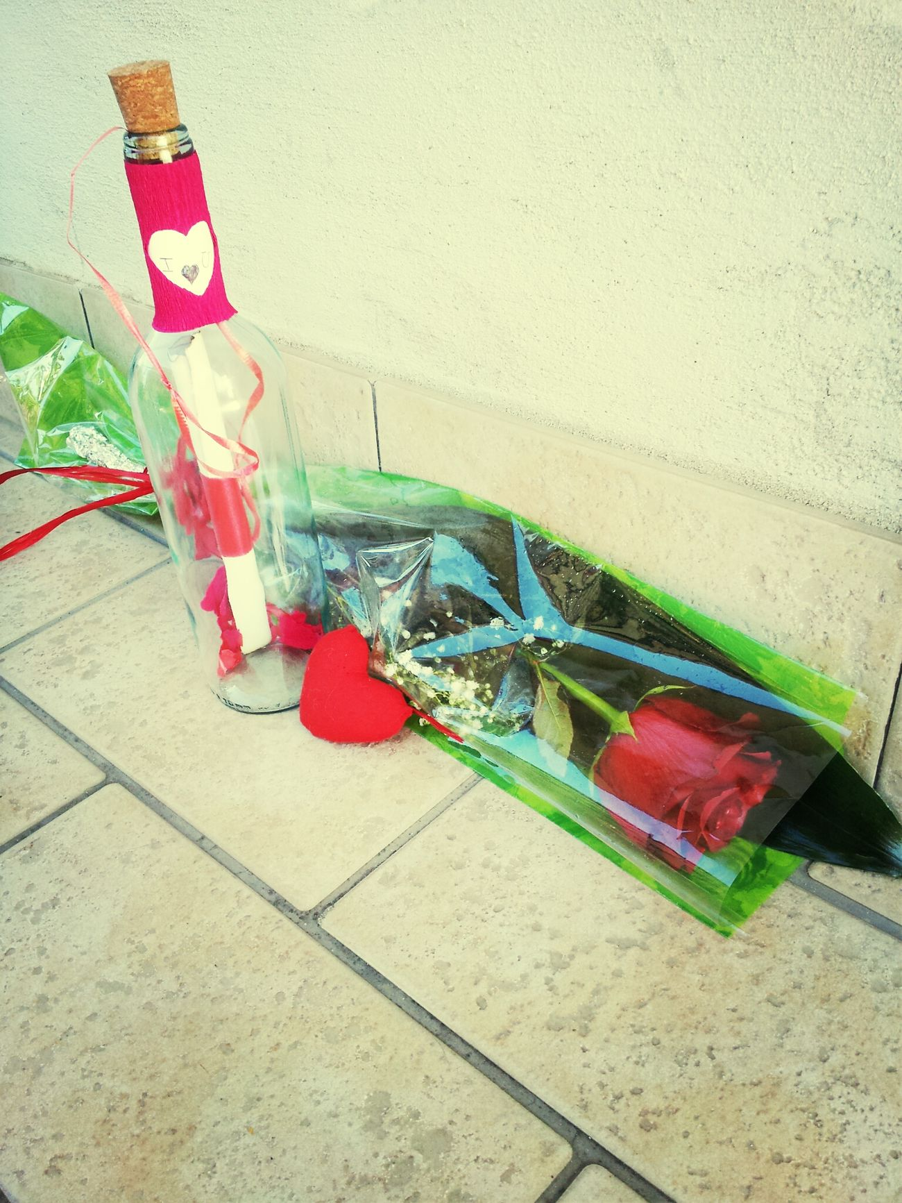 My Valentine❤ My Love Red Rose Message In A Bottle