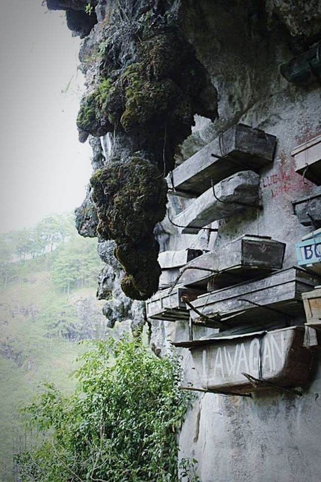 Cliff HangingCoffins Rock Formation Traditional Culture Tourism Sagada Adventure