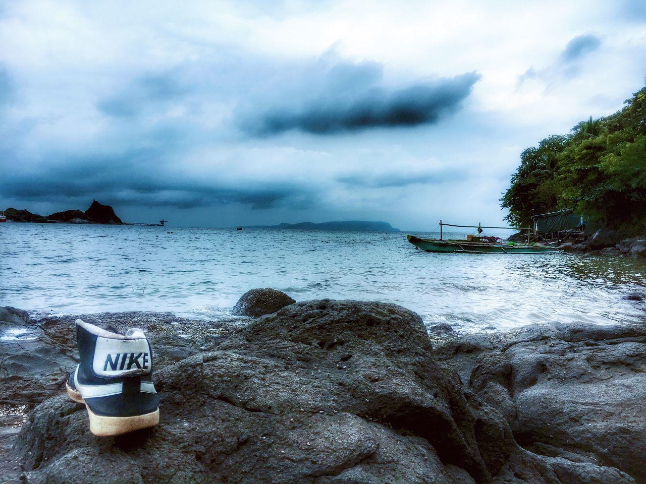 Just do it! Eyeem Philippines Nautical Vessel Nature Tranquil Scene TravelPhilippines EyeEm Nature Lover Shoe No People Nike✔