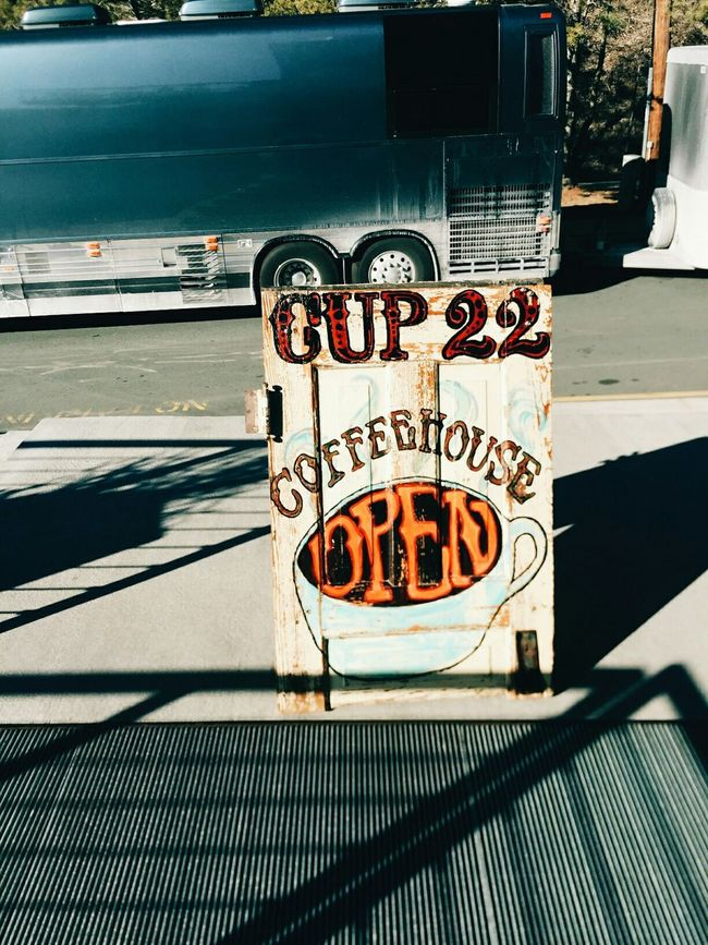 Urban Lifestyle Coffee Shop Coffee Tourbus Coffee Sign Coffee Time Walks Town Lovely Sun