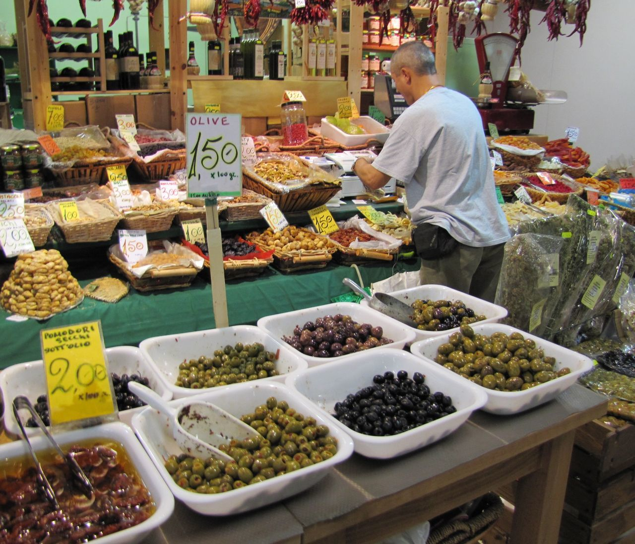 Chillis Firenze Mercato Centrale Merchant Olives & Olives Market Delisioso Hungry! Live Love Shop
