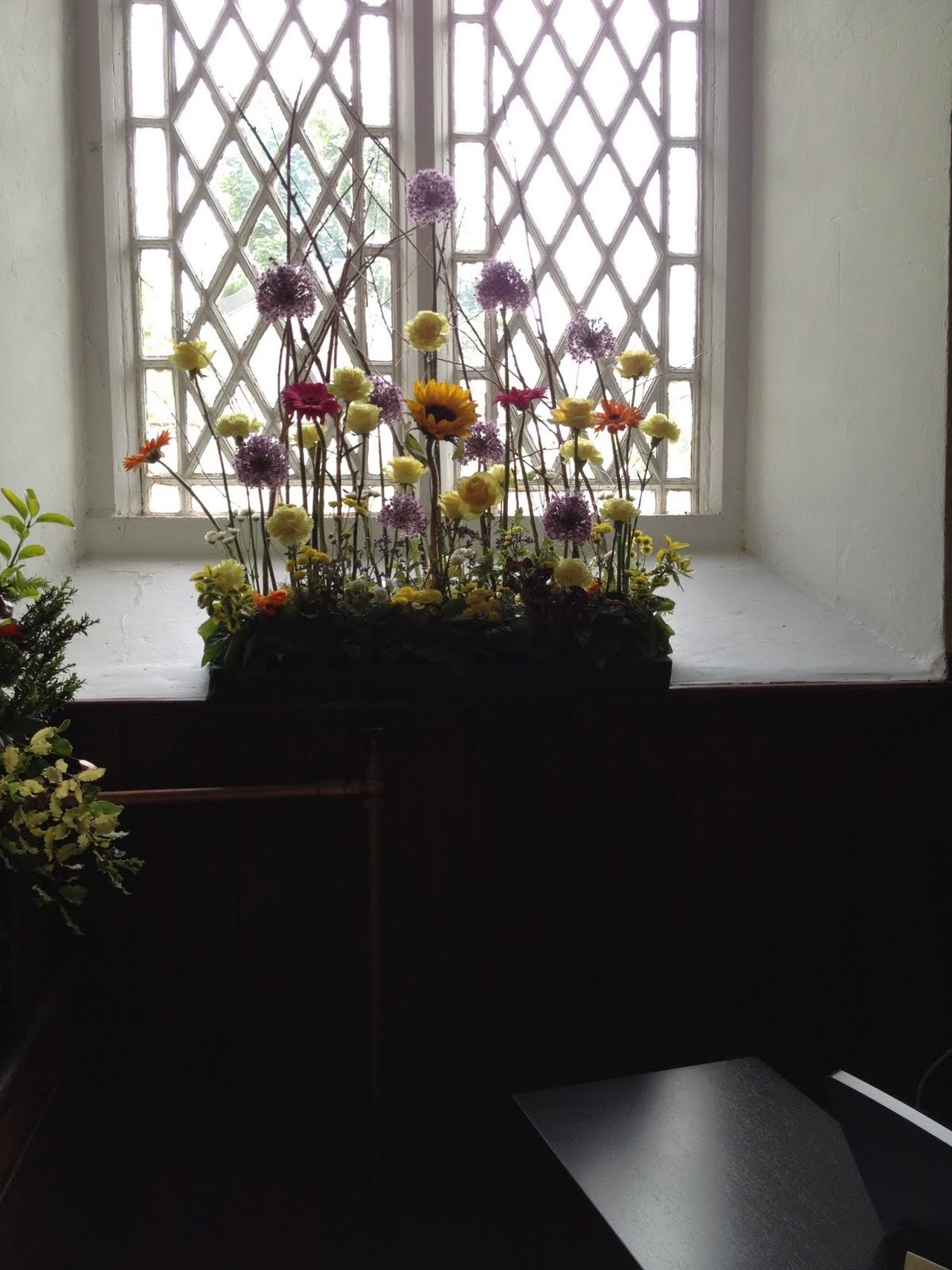 Day Home Interior Indoors  No People Window Flower Arrangement Flowers In Window Church Window Church Window With Floqers Flowers Flower Collection Flower Photography Light And Shadow Shadow And Light