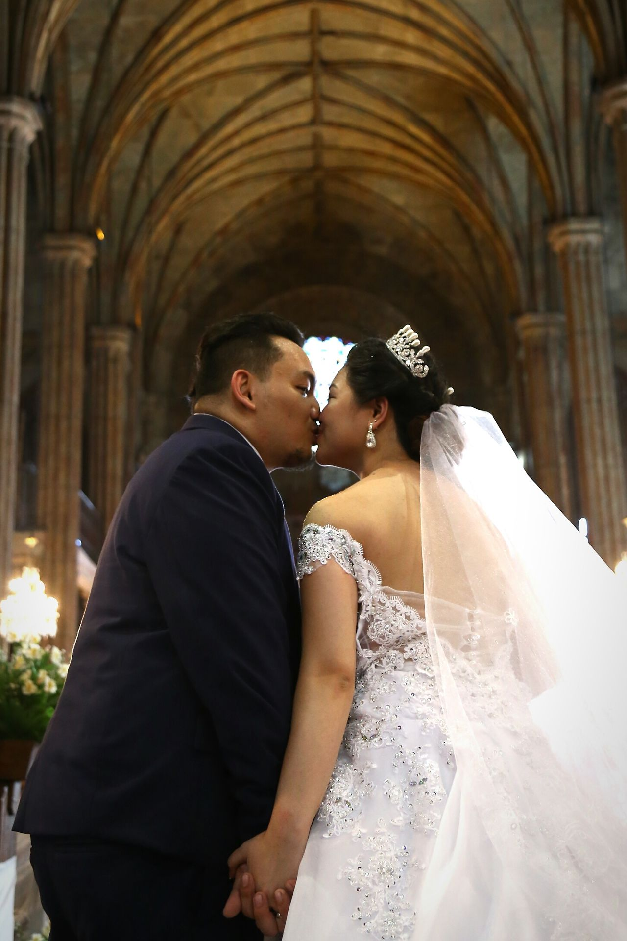 Wedding Photography Love ♥ Justmarried💑 Bride Groom Kiss Church
