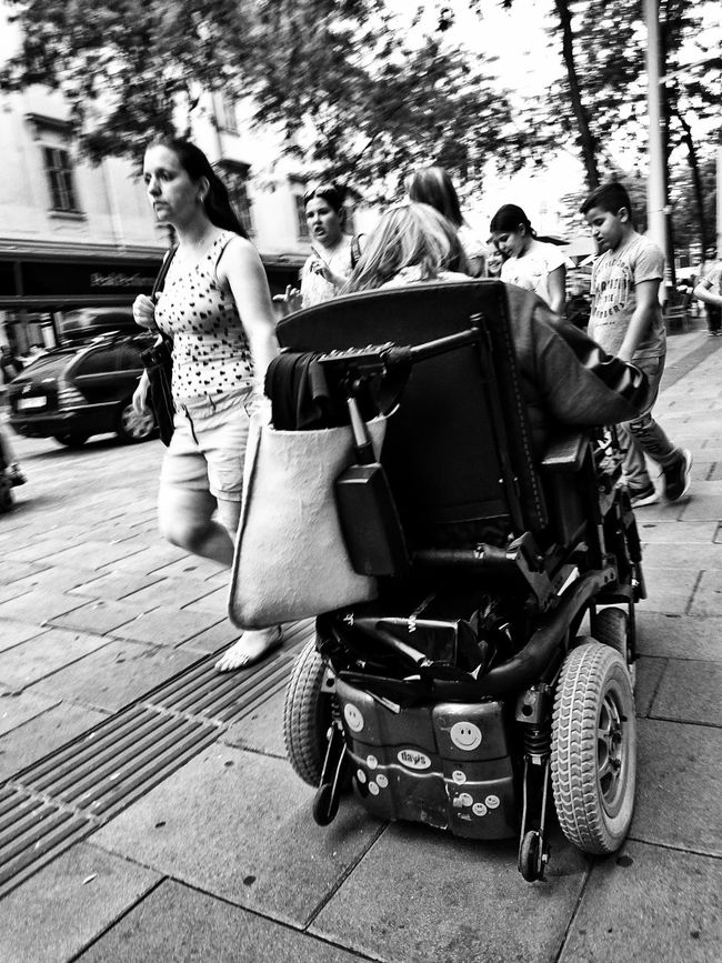 She keeps on passing me by... Transportation Mode Of Transport Person Black And White Motion PassingBy