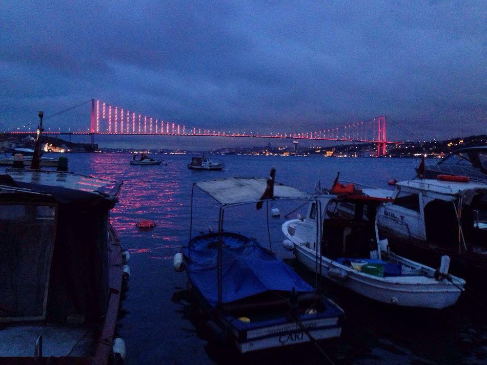 Transportation Boat Architecture Night Bridge - Man Made Structure No People Yacht Nautical Vessel Blue