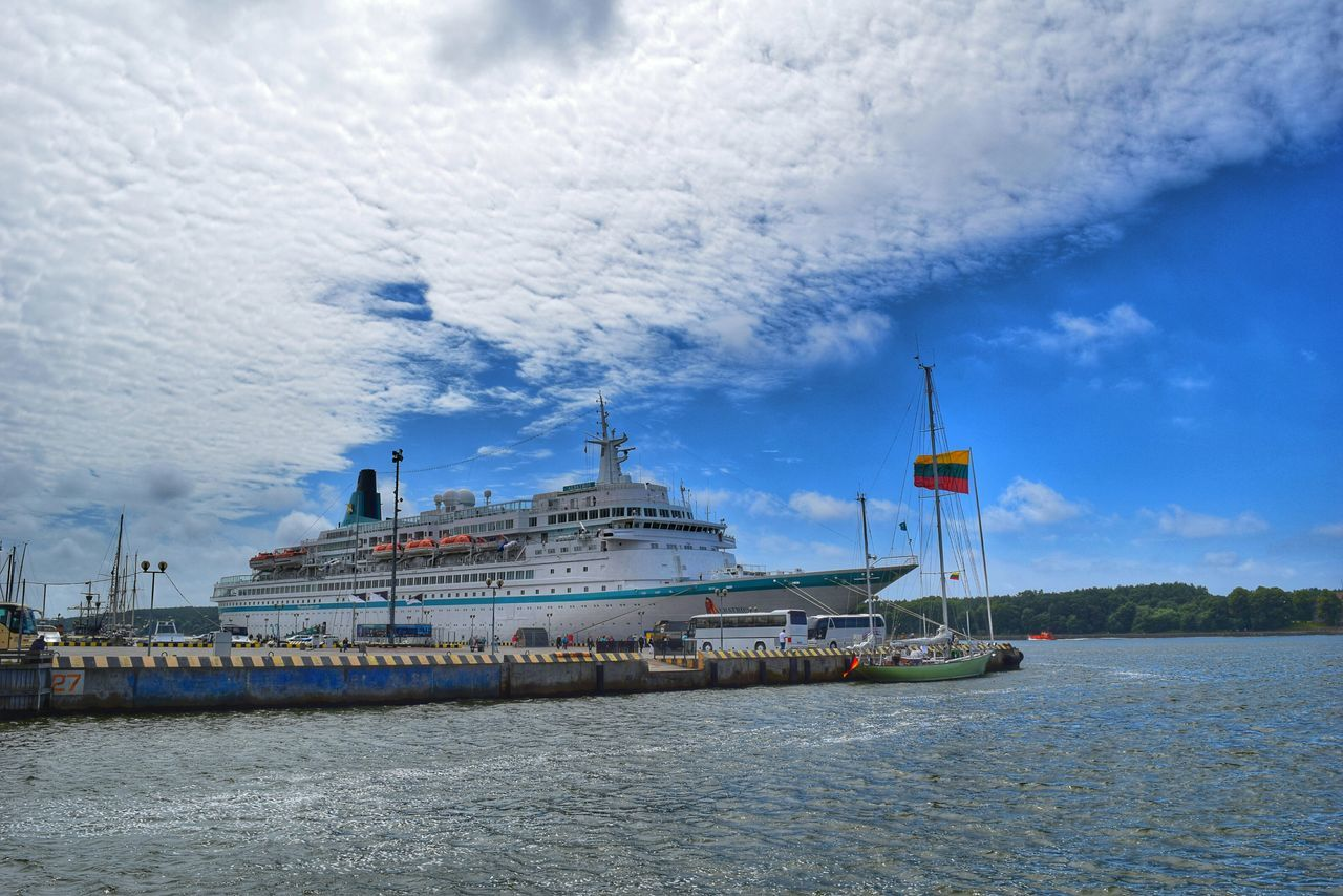 Ship Water Sky And Clouds Sea Hdr_Collection Eye4photography  Cruise Ship Taking Photos Klaipeda Check This Out