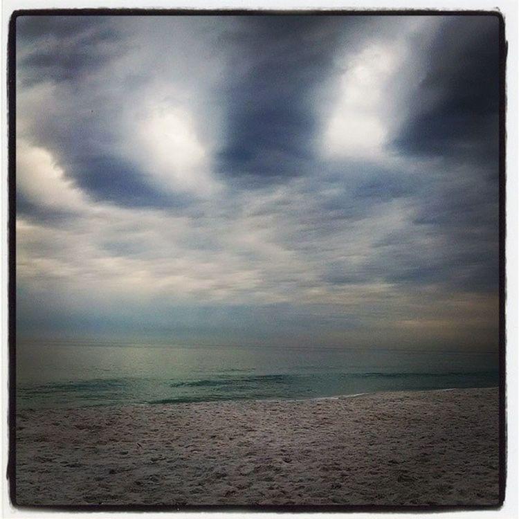 Storm rolling in Destin  Florida Beach