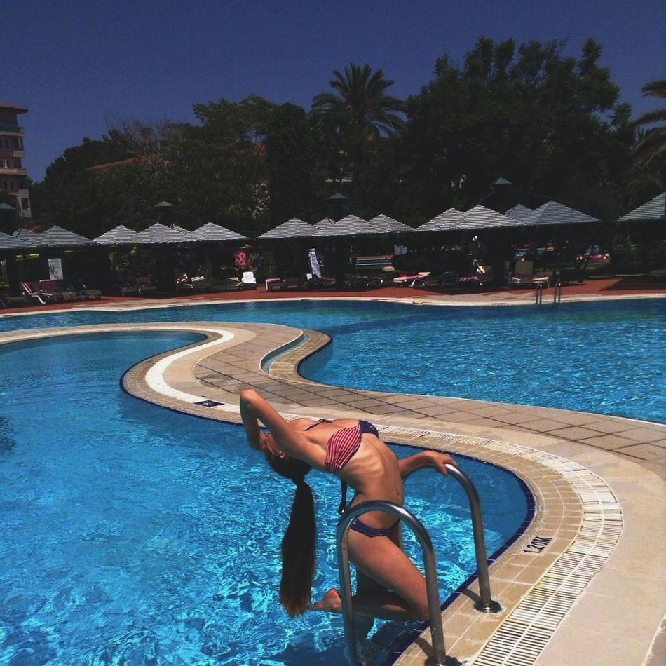 Relaxing Pool Travel Turkey Antalya