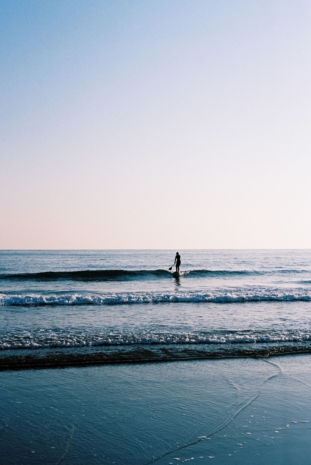 35mm Film Adult Adults Only Analog Analogue Photography Beach Beauty In Nature Clear Sky Day Film Photography Horizon Over Water Japan Men Nature One Man Only One Person Only Men Outdoors People Real People Scenics Sea Sky Surfing Water