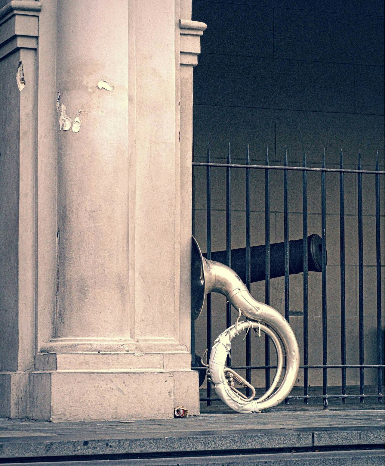 At Jackson Square Jackson Square Tuba Sousaphone Steps Musician Musical Instruments Live Music New Orleans In New Orleans Fine Art Photography