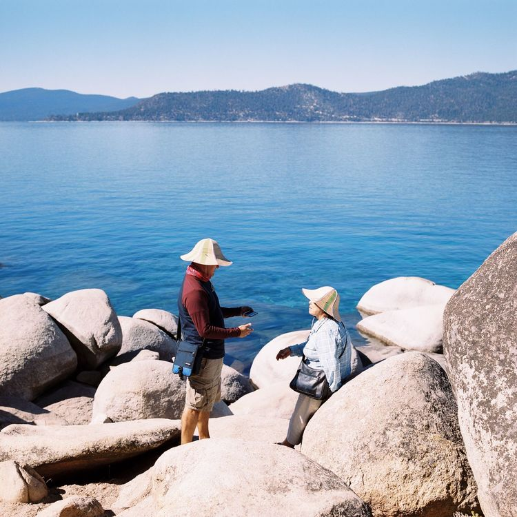 Water Nature Real People Men Tranquility Tranquil Scene Beauty In Nature Scenics One Person Outdoors Day Full Length Clear Sky Sea Sky Adult People 120 Film