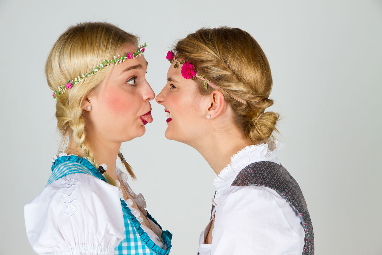 Argue Bavaria Beauty Dirndl Face Facial Expressions Fashion Fun Funny Germany Girl Girlfriends Hair Looking Munich Oktoberfest Portrait Portraits Rage Smile Teenager Tongue View Woman Young
