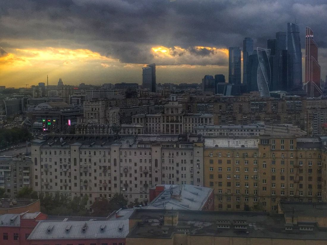 My Moscow's sunset Architecture Sunset Cloud - Sky First Eyeem Photo
