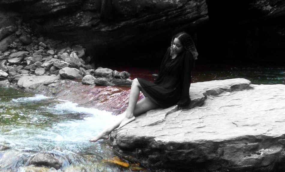 Rainbow River Rainbow Colors River Flowing Dipping My Toes Riverside On A Rock Color Splash