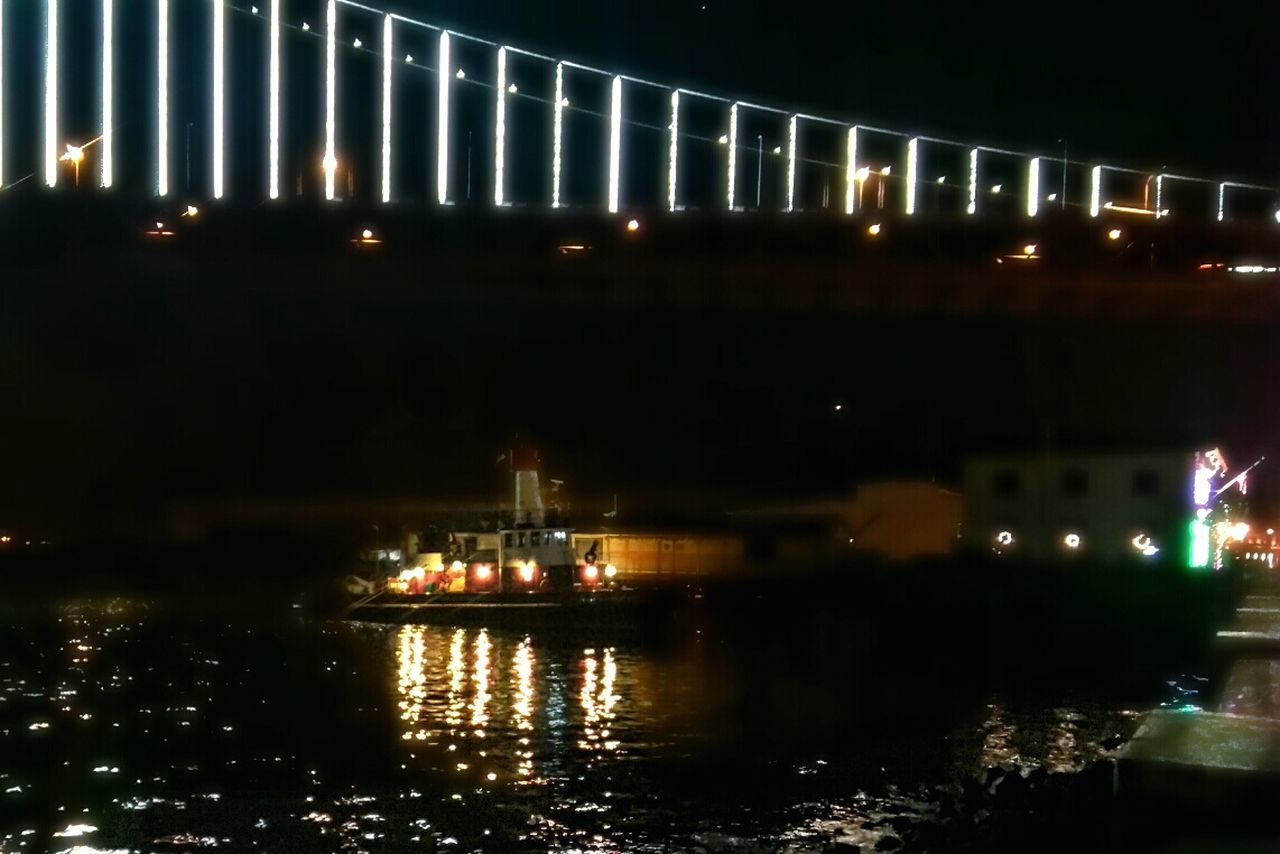 Bayfront San Francisco Fire Boat Warf Landmark Bridge Pier Water Ripples Architecture Water Reflections Night Lights Night Photography Night View Bay Bridge Bay Area All The Neon Lights